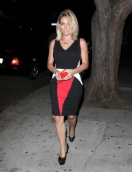 Aubrey O'Day - at Hooray Henry's in West Hollywood 9/12/13
