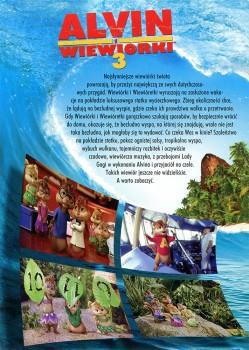 Tył ulotki filmu 'Alvin i Wiewiórki 3'