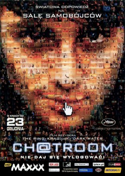 Przód ulotki filmu 'Chatroom'