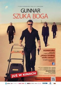 Przód ulotki filmu 'Gunnar Szuka Boga'