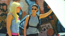 Emily Osment and Emmanuelle Chriqui in the Cleaners Trailer