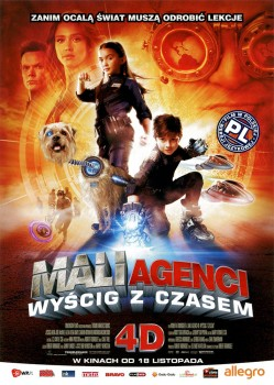 Przód ulotki filmu 'Mali Agenci. Wyścig Z Czasem 4D'