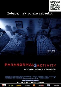 Przód ulotki filmu 'Paranormal Activity 3'