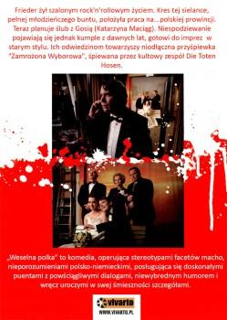 Tył ulotki filmu 'Weselna Polka'