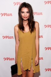 Emily Ratajkowski - Pharrell Williams performs at NY launch of YPlan 9/19/13