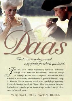 Tył ulotki filmu 'Daas'