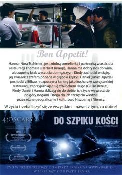 Tył ulotki filmu 'Bon Appétit'