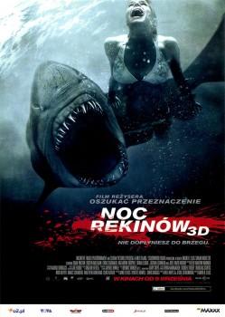 Przód ulotki filmu 'Noc Rekinów'