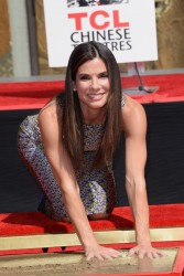 Sandra Bullock - Hand and Footprint Ceremony in Hollywood 9/25/13