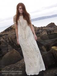 ромбы шишки бахрома платье спицами от н куликовской
