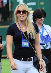 Lindsey Vonn - The Presidents Cup Day 1 in Dublin, Ohio 10/3/13