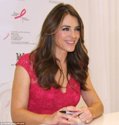 Elizabeth Hurley - The Breast Cancer Awareness event in Vancouver 10/3/13