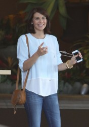 Lauren Cohan - leaving her hotel in Beverly Hills 10/4/13