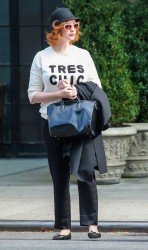 Christina Hendricks - out in NYC 10/5/13