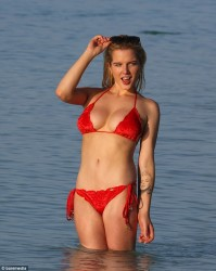 Helen Flanagan - wearing a bikini in Maldives Sept 2013