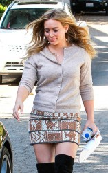 Hilary Duff - out in Beverly Hills 10/10/13