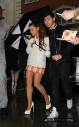 Ariana Grande - Arriving to BBC Radio in London 10/11/13