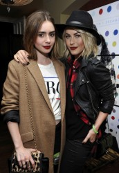 Julianne Hough & Lily Collins - Thirty Seconds To Mars Tour Celebration in LA 10/12/13