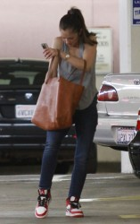Minka Kelly - at Whole Foods in Beverly Hills 10/12/13