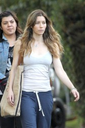 Jessica Biel - on the set of 'Shiva & May' in LA 10/17/13