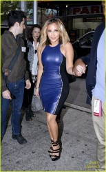 Adrienne Bailon - Leaving The Wendy Williams Show in NYC 10/17/13