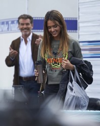Jessica Alba - on the set of 'How to Make Love Like an Englishman' in LA 10/29/13