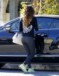 Eva Longoria - leaving Ken Paves salon in West Hollywood 11/1/13