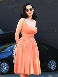 Dita Von Teese - Out in LA 11/1/13