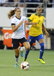 Alex Morgan - Brazil vs US at Florida Citrus Bowl Stadium in Orlando 11/10/13
