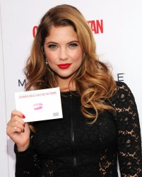 Ashley Benson - Kisses For The Troops Campaign in Times Square 11/11/13