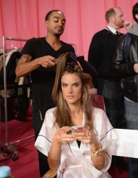 Alessandra Ambrosio - 2013 Backstage Victoria's Secret Fashion Show in NYC 11/13/13