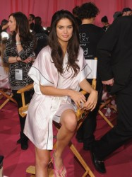 Sara Sampaio - Backstage at the 2013 Victorias Secret Fashion Show in NYC 11/13/13