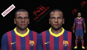 PES 2014 Dani ALVES face