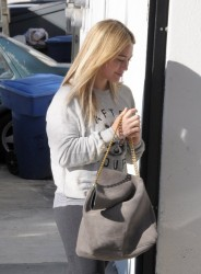 Hilary Duff - Going to the gym in West Hollywood 12/10/13