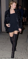 Candice Swanepoel - Victoria's Secret Fashion Show screening in NY 12/10/13