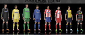 PES 2014 Atletico de Madrid 2013-2014 GDB Set by Txak