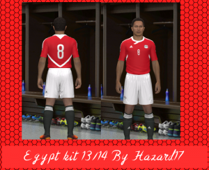 pes 2014 Egypt GK and Player Kit 2013-14 by Hazard17