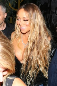 Mariah Carey - Major Cleavage As She Exits Dinner At Catch In West Hollywood (5/20/17)