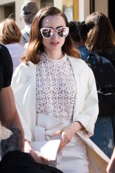 Lily Collins - Out in Cannes 5/20/17