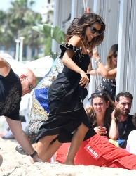Eva Longoria - On set of a photoshoot in Cannes 5/23/17
