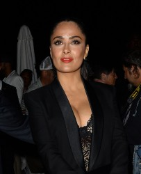 Salma Hayek - Arriving to Paul Allen's Yacht Party in Cannes 5/22/17