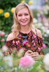 Rachel Riley -                      Chelsea Flower Show London May 22nd 2017.
