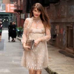 Helena Christensen -                   Valentino Show Arrival New York City May 23rd 2017.
