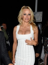 Pamela Anderson - Attending a yacht party in Cannes 5/22/17