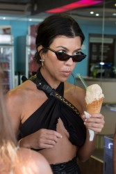 Kourtney Kardashian - Getting ice cream in Cannes 5/24/17