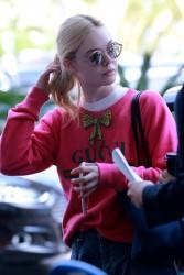 Elle Fanning - At Nice Cote d'Azur International Airport 5/25/17