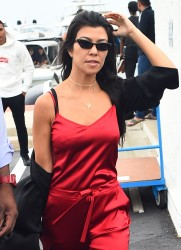 Kourtney Kardashian - Boarding a plane in Cannes 5/26/17