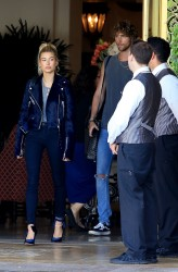 Hailey Baldwin - Leaving The Montage Hotel in Beverly Hills 6/1/17