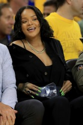 Rihanna - At the NBA Final's Game 1 in Oakland 6/1/17