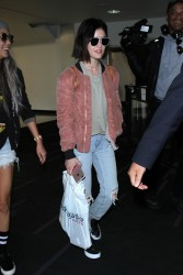 Lucy Hale - At LAX Airport 6/4/17